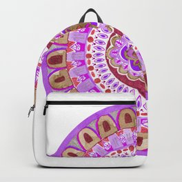 Purple Cavern Mandala Backpack