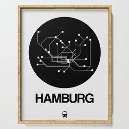 Hamburg Black Subway Map Serving Tray