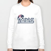 patriots Long Sleeve T-shirts featuring American Patriots by SuperEdu