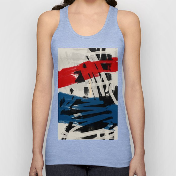 French Expressionist Abstract Art Unisex Tank Top