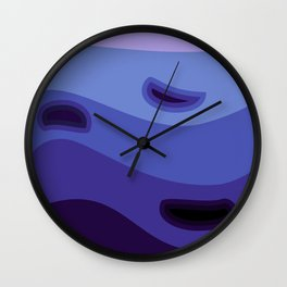 Shades of blue background #society6 #decor #buyart #artprint Wall Clock