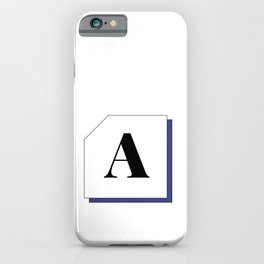Capital letter A iPhone Case