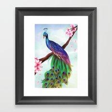 Fantasy Peacock. Framed Art Print