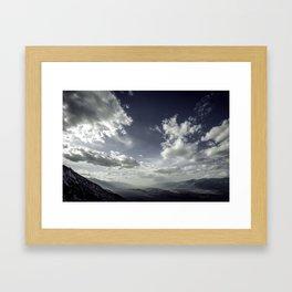 Owens Valley Light Framed Art Print