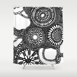graphic dots pattern Shower Curtain