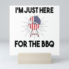 America Smoker Grill 4th Of July Grilling Mini Art Print