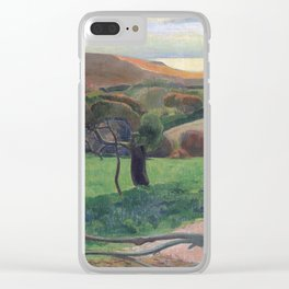 Landscape from Bretagne by Paul Gauguin Clear iPhone Case
