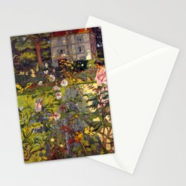 Garden at Vaucresson by Édouard Vuillard - Les Nabis Oil Painting Stationery Cards