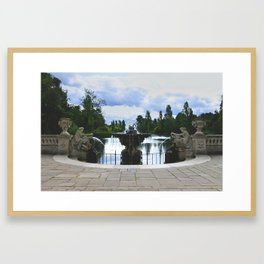 Italian Water Gardens Fountain, London - Landscape Photography Framed Art Print