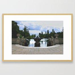 Italian Water Gardens Fountain, London - Landscape Photography Framed Art Print
