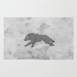 Wolf Banner Rug