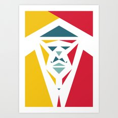 Five Triangle Faces - The Entertainer Art Print