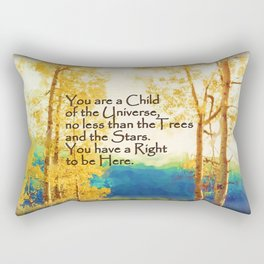 Faded Aspens DESIDERATA Rectangular Pillow