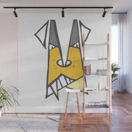 Yellow dog Wall Mural