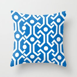 Ethnic Pattern (Blue) Throw Pillow