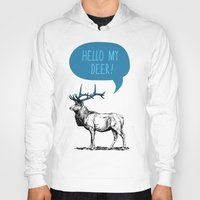 pun Hoodies featuring Deer Pun by Zeke Tucker