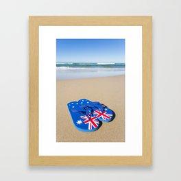 Australian Beach Thongs Framed Art Print
