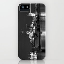 HMS Belfast in Black and White iPhone Case
