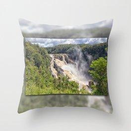 Magnificent Barron Falls Throw Pillow
