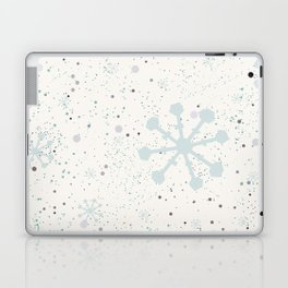 Cute Seamless Winter Pattern with subtle snowflakes Laptop & iPad Skin