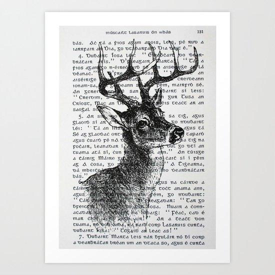 Irish Deer Art Print
