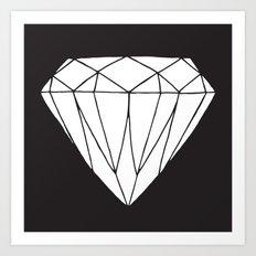 White diamond Art Print