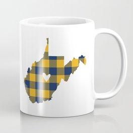 West Virginia Buffalo Plaid Outline Coffee Mug