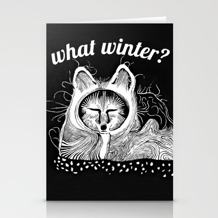 Arctic Fox Scoffs at Your Winter Stationery Cards