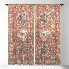 Shirvan Carpet Low Poly Geometric Triangle Art Sheer Curtain