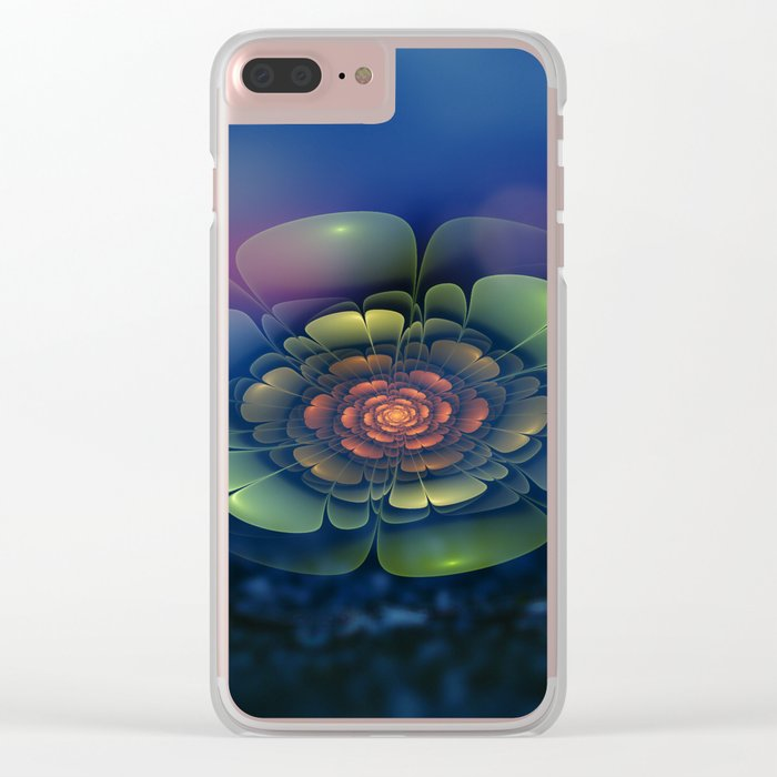 A Beautiful Fractal Flower 2 Clear iPhone Case