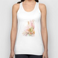 postcard Tank Tops featuring postcard by tatiana-teni