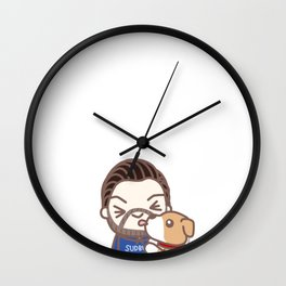 Chris & Dodger 1 Wall Clock