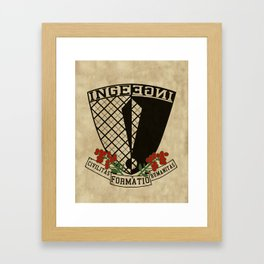 Coat of Arms of Inge Framed Art Print