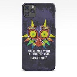 Majora's Mask Splatter (Quote) iPhone Case