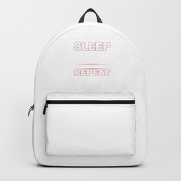 Eat Sleep Barbell Repeat Workout Weightlifters Bodybuilding Weightlifting Gift Backpack