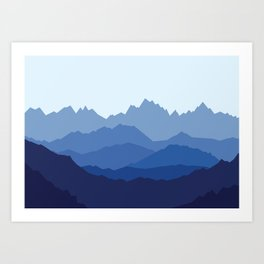 Blue Mountain range Art Print