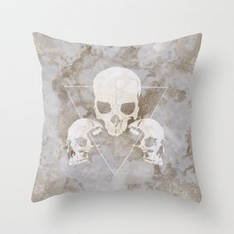 Marble Skulls Throw Pillow