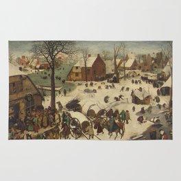 Pieter Bruegel The Elder - The Numbering At Bethlehem Rug