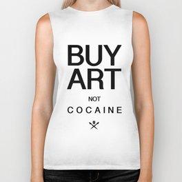 Buy Art Not Cocaine (black) Biker Tank
