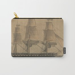 Vintage USS Constitution Ship Illustration (1846) Carry-All Pouch