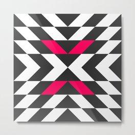 Pink Arrow Pattern Metal Print