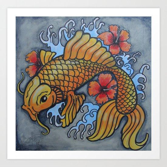 koi fish 02 Art Print