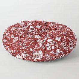 Arabian Nights // Maroon Floor Pillow