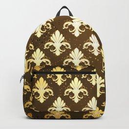 Background with Gold Fleur De Lis Backpack
