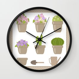 A wonderful design for those who are fond of plants , flowers . Wall Clock
