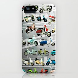 Vintage Lambretta Motor Scooter Model History Poster iPhone Case
