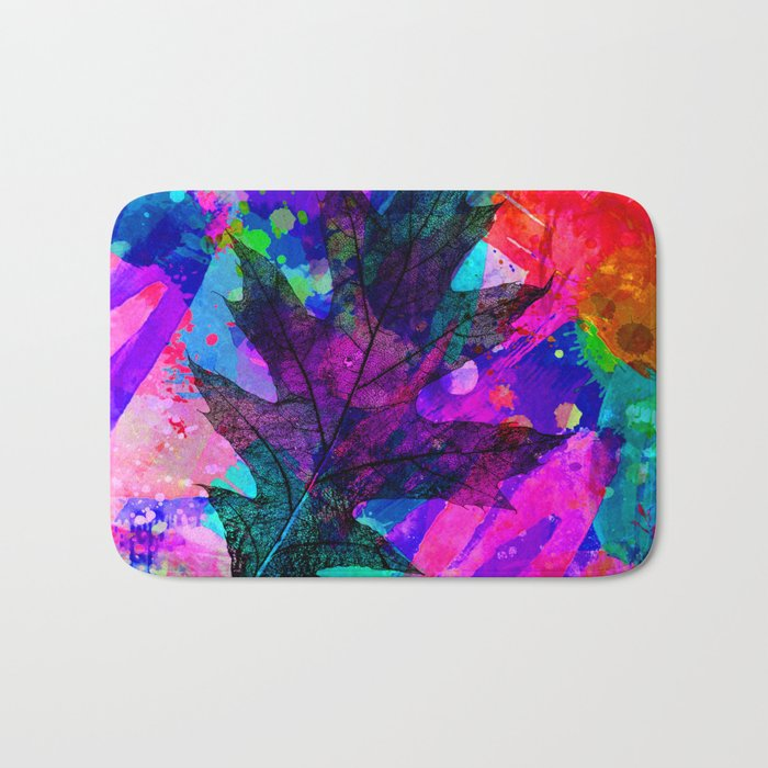 splash leaf ii Bath Mat