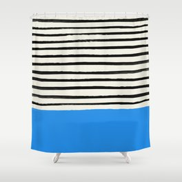 Ocean x Stripes Shower Curtain