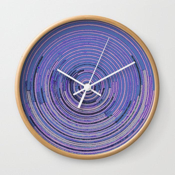 ganù line blu Wall Clock