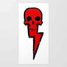 Skull n Bolt Art Print